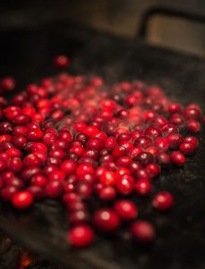 Cranberries on the griddle